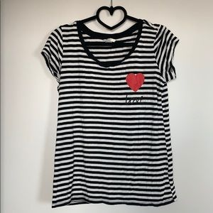 Striped Nursing / Maternity T-Shirt